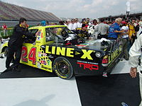 The truck driven by Travis Kvapil to Toyota's first national series win.