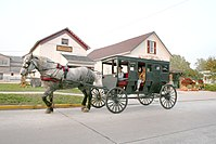 Indiana is home to the third largest population of Amish in the U.S.
