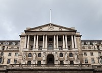 The Bank of England, on Threadneedle Street, is the central bank of the United Kingdom.