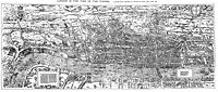 """The """"Woodcut"""" map of London, dating from the 1560s"""