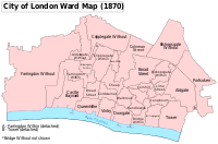 A map of the wards as they were in the late 19th century.