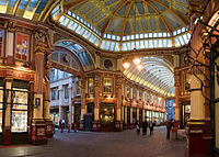 Leadenhall Market is a historic market nestled between Gracechurch Street and Lime Street.