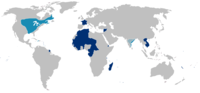 Areas of French Colonization