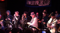 Hendryx with Gary Lucas, Nina Persson and others at the Best Batch Yet tribute to Captain Beefheart