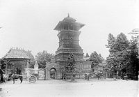 Minaret of the Menara Kudus Mosque, influenced by both Islamic and mainly Hindu-Buddhist temple-like Javanese structure.