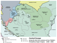 Territories in Central Europe under the Ottoman Empire, 1683 CE.