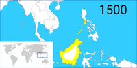 A map of the Bruneian Empire in 1500.