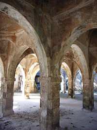 The Great Mosque of Kilwa Kisiwani, made of coral stones is the largest Mosque of its kind.
