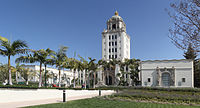 The Beverly Hills City Hall featured prominently in the Beverly Hills Cop films as the police headquarters.