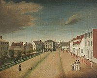 An 1818 painting of Newport reportedly painted by a Hessian artist