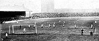 Chelsea vs. West Bromwich Albion at Stamford Bridge on 23 September 1905; Chelsea won 1–0.