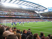 Chelsea fans at a match against Tottenham Hotspur, on 11 March 2006