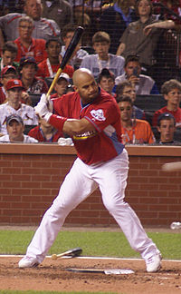 Pujols participating in the 2009 Home Run Derby