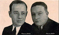 Freeman Gosden and Charles Correll of Amos 'n' Andy in 1929