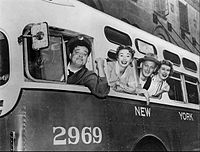 The main cast of The Honeymooners in 1955