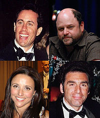 The main cast of Seinfeld, which aired from 1989 to 1998 on NBC