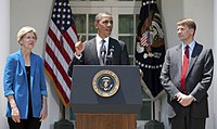 President Barack Obama announces the nomination of Cordray as the first director of the Consumer Financial Protection Bureau on July 18, 2011