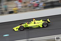 Simon Pagenaud during 2019 Indianapolis 500.