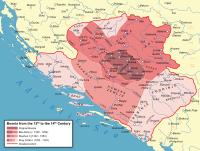 Bosnia in the Middle Ages spanning the Banate of Bosnia and the succeeding Kingdom of Bosnia.