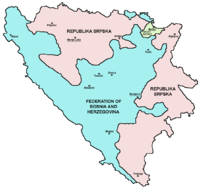 Bosnia and Herzegovina consists of the Federation of Bosnia and Herzegovina (FBiH); Republika Srpska (RS); and Brčko District (BD).