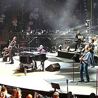 Joel with his band performing in California