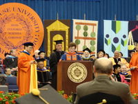 Joel receiving an Honorary Doctorate of Fine Arts from Syracuse University, 2006