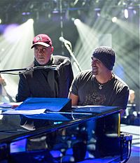 Joel with Mike DelGuidice in 2016