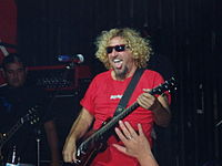The introduction of Sammy Hagar (pictured in 2005) as vocalist continued the band's worldwide popularity.