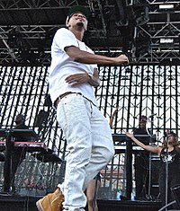 Cole performing at Governor's Ball 2014, in New York City