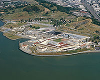Aerial view of San Quentin State Prison, where Bonin was incarcerated on death row prior to his February 1996 execution