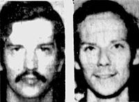 Mugshots taken of William Bonin (left) and Vernon Butts (right) after their arrest.