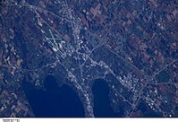 Eastern Madison taken from the International Space Station (ISS)