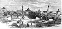 View of downtown and Capitol from Washington Street, 1865