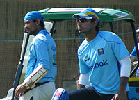Sangakkara (right) resigned from captaincy after the 2011 World Cup and was succeeded by Tillakaratne Dilshan (left).