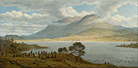 Painting by John Glover of Mount Wellington and Hobart, 1834