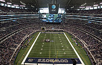 AT&T Stadium during a game