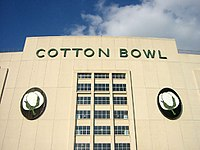 The main entrance of the Cotton Bowl