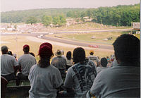 Fans looking east at Turn Five during the 1995 June Sprints