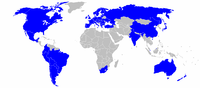 Global locations of Fiat Automobiles dealers, 2012
