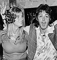 McCartney (right) with wife Linda in 1976