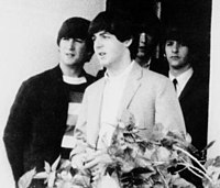McCartney (centre) with the rest of the Beatles in 1964