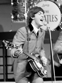 McCartney performing in 1964