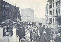 Chelsea Square after the Great Fire of 1908