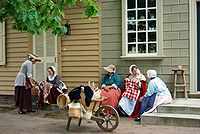 Colonial Virginian culture, language, and style are reenacted in Williamsburg.