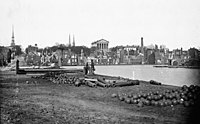 Richmond was made the capital of the Confederacy in 1861 and was partially burned by them prior to its recapture by Union forces in 1865.