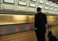 Rosslyn station in Arlington is the busiest choke point of the Washington Metro subway system.