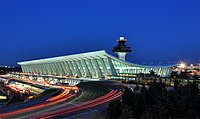 The main terminal of Washington Dulles International Airport is one of the few surviving examples of Space Age architecture.