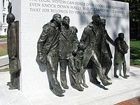 The Virginia Civil Rights Memorial was erected in 2008 to commemorate the protests which led to school desegregation.