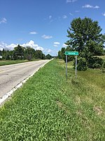 Sign at Heinola, an unincorporated community in Otter Tail County, Minnesota