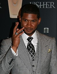 Usher at his 2007 launch of fragrances Usher He and Usher She